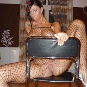 femme amatrice en lingerie coquine filet de pêche