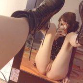 selfie chatte rasée